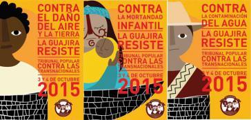 Plakat zur Ankündigung des Volkstribunals in La Guajira