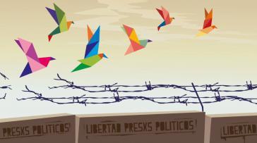 Plakat zur Kampagne für die Freilassung der inhaftierten Aktivisten