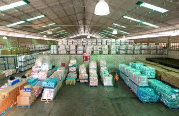 Besetzes Warenlager von Herrera C.A. in Maracaibo