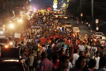 Fackelmarsch gegen Korruption am vergangenen Freitag in Tegucigalpa