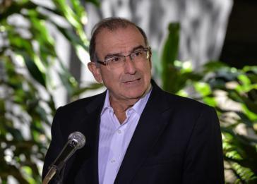 Der Leiter der Regierungsdelegation bei den Friedensgesprächen, Humberto de la Calle