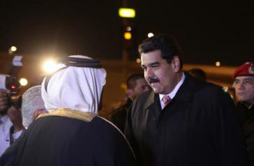 Empfang von Venezuelas Präsidenten Nicolás Maduro in Doha, Katar