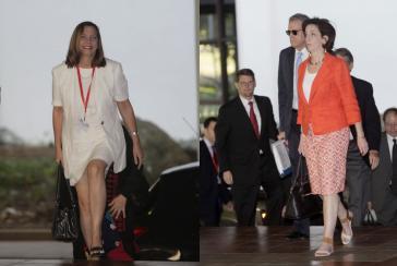 Die Leiterinnen der Gesprächsdelegationen: Josefina Vidal (Kuba, links) und Roberta Jackson (USA, rechts)