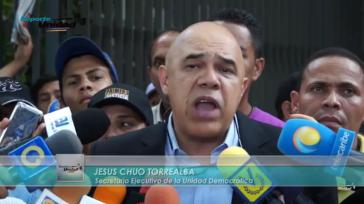 Der Generalsekretär des MUD, Jesús Torrealba