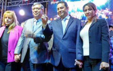 Jimmy Morales nach seinem Wahlsieg am Sonntag