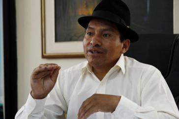 """Rief zur """"nationalen Erhebung"""" auf: Conaie-Vorsitzender Jorge Herrera"""