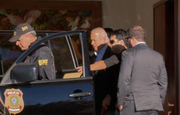 Ex-Kabinettschefs José Dirceu bei seiner Festnahme Anfang August