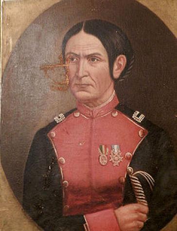 Portrait der lateinamerikanischen Freiheitskämpferin Azurduy