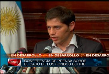 """Argentiniens Wirtschaftsminister Axel Kicillof fand deutliche Worte für die """"Geierfonds"""""""