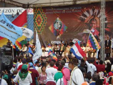 Teilnehmer des ersten alternativen Klimagipfels 2010 in Bolivien