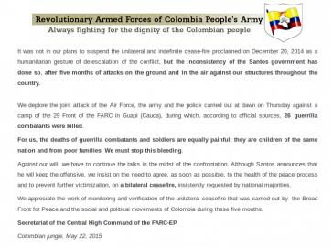Kommuniqué der FARC