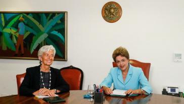 Keine Berührungsängste: Dilma Rousseff (re.) mit IWF-Chefin Christine Lagarde
