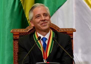 Vizepräsident Álvaro García Linera
