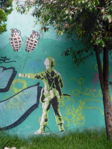 Auseinandersetzung mit der Armee – Banksy-Style