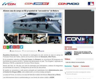 """Luxusjacht, Drogenfunde, """"Drogen-Neffen von Maduro"""" – so berichtete das dominikanische Portal CND"""