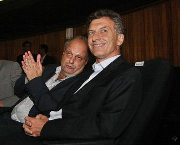 Präsident Macri (rechts) und Hernán Lombardi