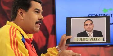 """Präsident Maduro gibt die Verhaftung von """"Julito"""" Vélez bekannt"""