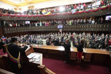 Er legte seinen jährlichen Rechenschaftsbericht vor der Nationalversammlung Venezuelas ab
