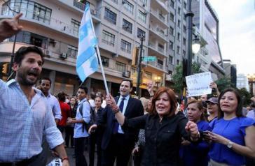 Demonstration der Opposition in Ecuadors größter Stadt, Guayaquil