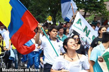 Friedensmarsch in der Provinzhauptstadt Neiva im Süden Kolumbiens