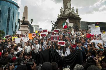 In mehreren mexikanischen Städten fanden nach den Morden Demonstrationen statt
