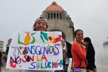 Proteste gegen Monsanto in Mexiko-Stadt