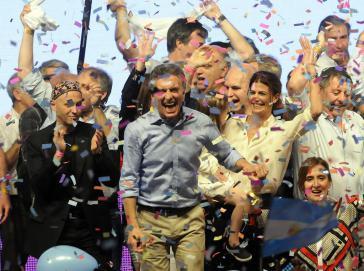 In Feierlaune: Wahlsieger Macri