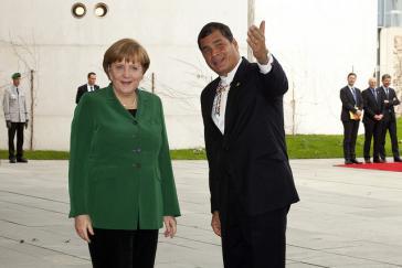 Angela Merkel und Rafael Correa – hier während eines Staatsbesuchs 2013 in Berlin