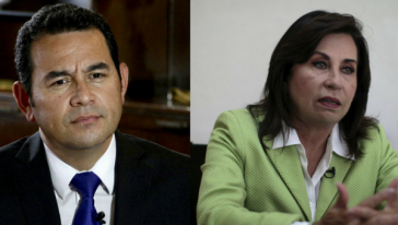 Zur Abstimmung stehen Jimmy Morales und Sandra Torres