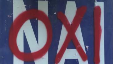 """Gut 61 Prozent der Wähler stimmen für """"Oxi"""", also """"Nein"""""""