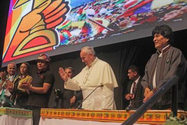 Papst Franziskus beim Welttreffen der Volksbewegungen
