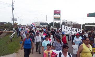 Demonstration von Kleinbauern am Montag
