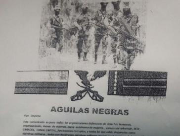 """Paramilitärs der """"Aguilas Negras"""" betreiben einen """"Plan zur Säuberung"""""""