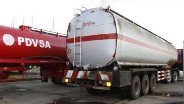 Tanklastwagen des venezolanischen Erdölunternehmens PDVSA