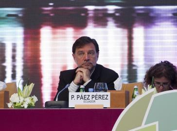 Ökonom Dr. Pedro Páez aus Ecuador