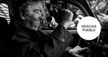 Bild auf der Startseite seiner Homepage: José Mujica bedankt sich beim Volk
