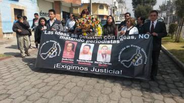 Nach der Ermordung von drei Kollegen fordern Journalisten in Guatemala vom Staat ein Schutzprogramm für ihre Sicherheit
