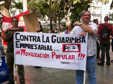 """""""Gegen die Gewaltaktionen der Unternehmer - Mobilisierung des Volkes"""""""