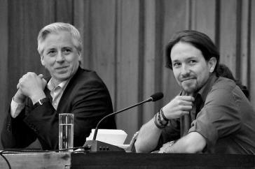 Anführer der Podemos, Pablo Iglesias (rechts), und Boliviens Vizepräsident Álvaro García Linera vergangenen Herbst
