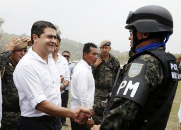 Wollte weitreichende Sonderrechte und die direkte Befehlsgewalt über die PMOP: Präsident Juan Orlando Hernández