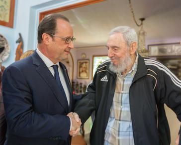 François Hollande und Fidel Castro
