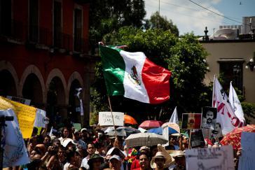 Protest gegen die regierende Partei PRI in Mexiko – hier bereits im Jahr 2012