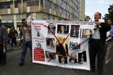 Klare Bildsprache: Protest des indigenen Verbandes Conaie, hier im September 2014