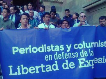 """Journalisten protestieren nach den Morden an ihren Kollegen. """"Journalisten und Kolumnisten verteidigen die freie Meinungsäußerung"""""""