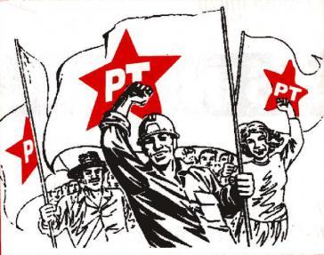 Kampagnenbild mit PT-Fahnen und Arbeitern: Dieses Ideal soll nun wieder umgesetzt werden