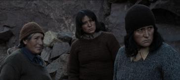 Digna Quispe, Francisca Gavilán, Catalina Saavedra im Film Las Niñas Quispe