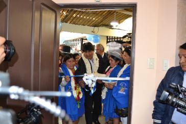 Bei der Einweihung der Radiostation am 14. Januar war auch Boliviens Präsident Evo Morales anwesend