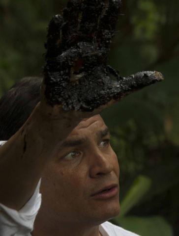 Ecuadors Präsident Rafael Correa – hier bei einer Kampagne gegen Umweltschäden des US-Erdölkonzerns Chevron