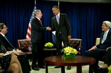 Raúl Castro und Barack Obama trafen sich am 29. September in New York