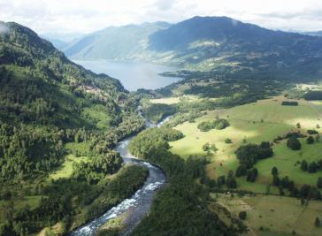 Hier soll das Wasserkraftwerk Neltume des transnationalen  Enel-Konzerns entstehen